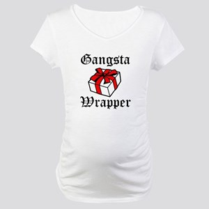 Gangsta Wrapper funny Christmas Maternity T-Shirt