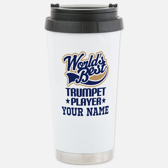 Trumpet Player Personalized Gift Travel Mug