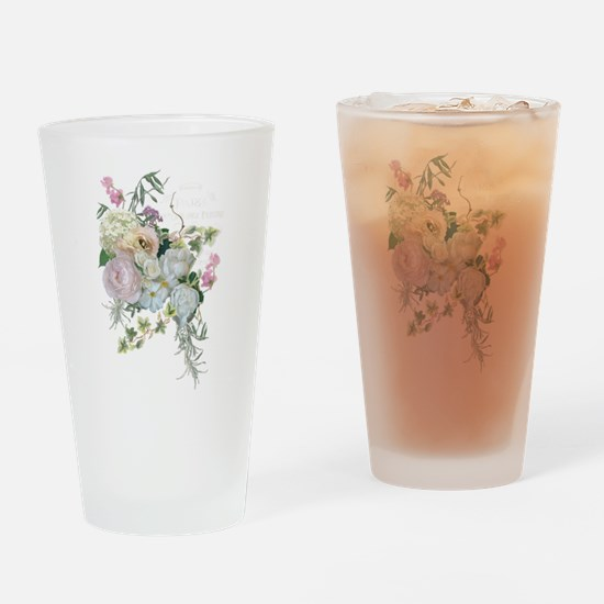French Flower Market Paris Roses Pe Drinking Glass