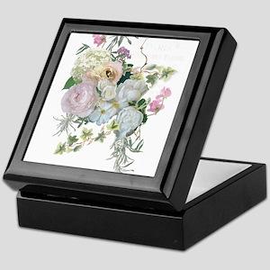 French Flower Market Paris Roses Peon Keepsake Box