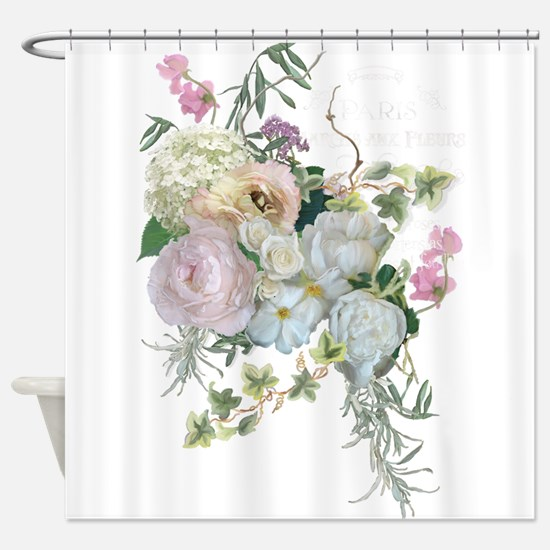French Flower Market Paris Roses Pe Shower Curtain
