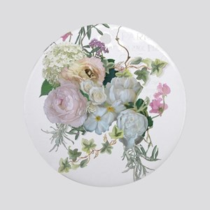 French Flower Market Paris Roses Pe Round Ornament