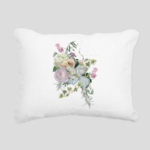 French Flower Market Par Rectangular Canvas Pillow