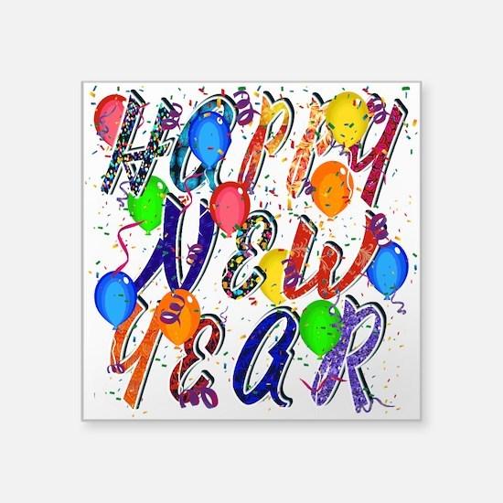 Happy New Year Confetti Sticker