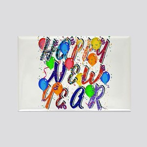 Happy New Year Confetti Magnets