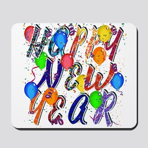 Happy New Year Confetti Mousepad
