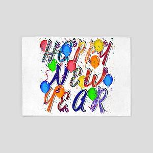 Happy New Year Confetti 5'x7'area Rug