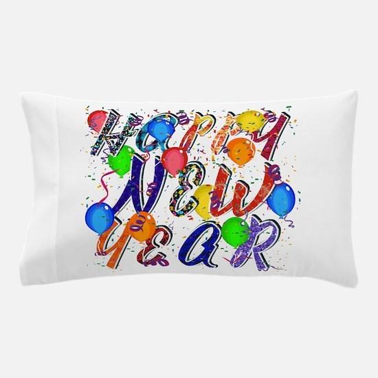 Happy New Year Confetti Pillow Case