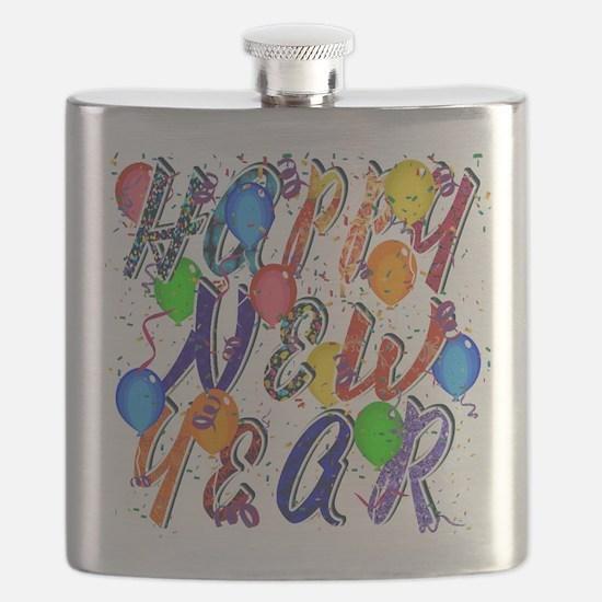 Happy New Year Confetti Flask