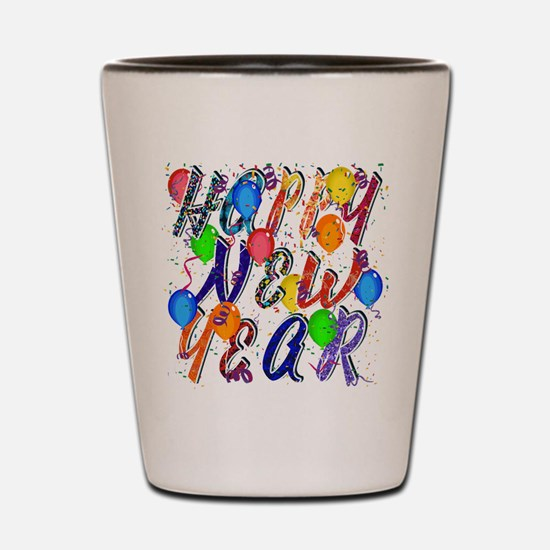Happy New Year Confetti Shot Glass