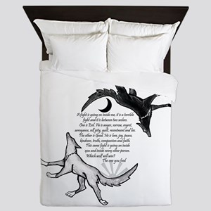 The Wolf You Feed Queen Duvet