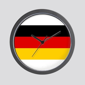 Flag of Germany - Bundesflagge und Hand Wall Clock