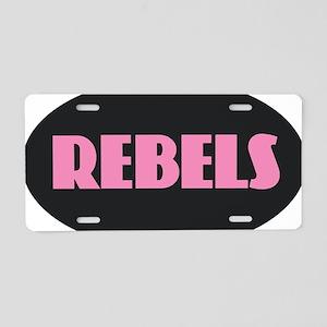 REBELS Aluminum License Plate