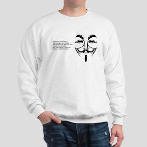 remember black big mask Sweatshirt