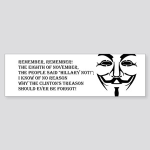 remember mask Bumper Sticker