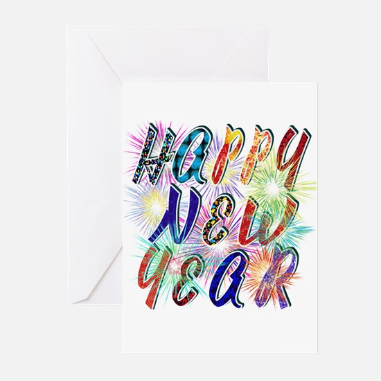 Happy New Year Works Greeting Cards