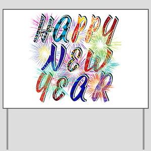 Happy New Year Yard Signs - CafePress
