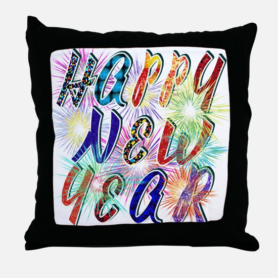 Happy New Year Works Throw Pillow