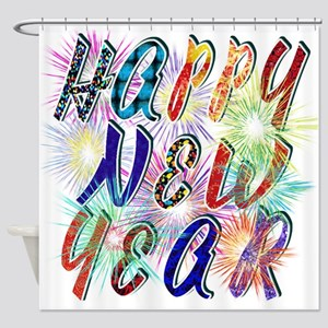 Happy New Year Works Shower Curtain