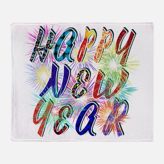 Happy New Year Works Throw Blanket
