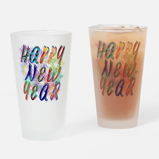 Happy New Year Works Drinking Glass