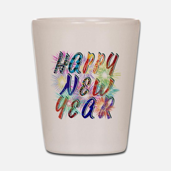Happy New Year Works Shot Glass