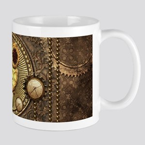Awesome steampunk owl with clocks Mugs