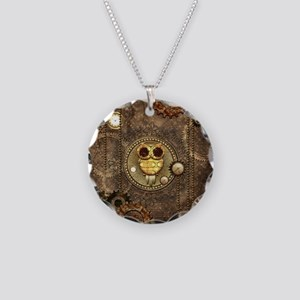 Awesome steampunk owl with clocks Necklace
