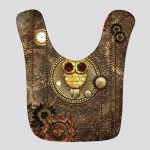 Awesome steampunk owl with clocks Polyester Baby B