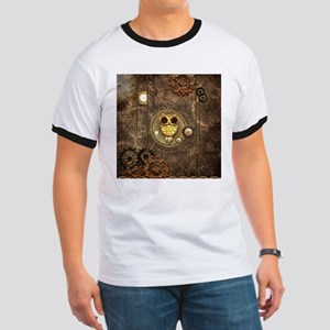 Awesome steampunk owl with clocks T-Shirt