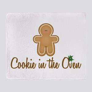 Cookie In Oven Throw Blanket