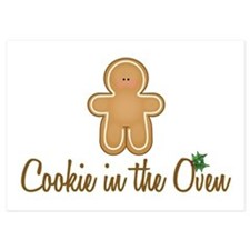 Cookie In Oven 5x7 Flat Cards