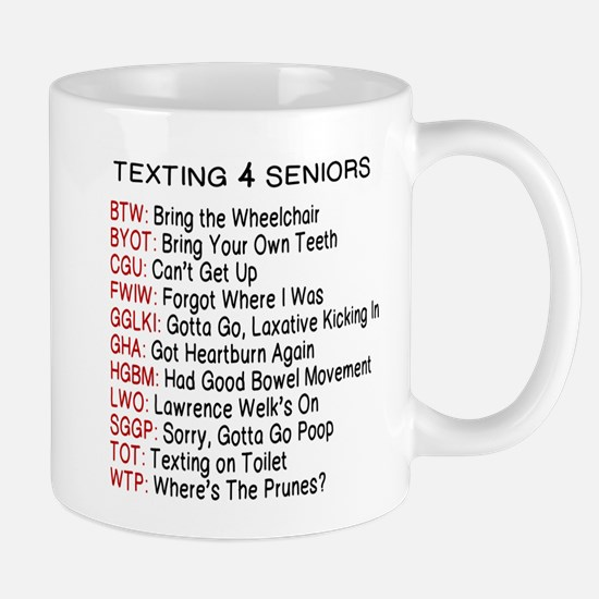 TEXTING FOR SENIORS Mugs