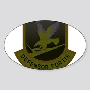 Subdued Defensor Fortis Oval Sticker
