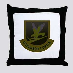 Subdued Defensor Fortis Throw Pillow