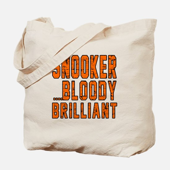 Snooker Bloody Brilliant Designs Tote Bag