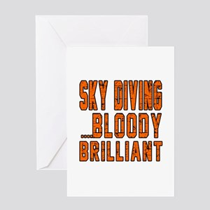 Sky Diving Bloody Brilliant Designs Greeting Card