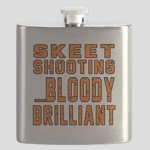 Skeet shooting Bloody Brilliant Designs Flask