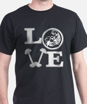 LOVE Weight Lifting Strength Training T-Shirt