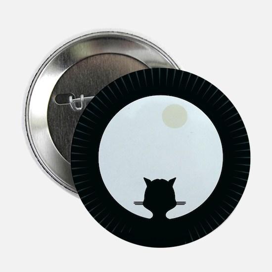 """Unique Cat silhouette 2.25"""" Button"""