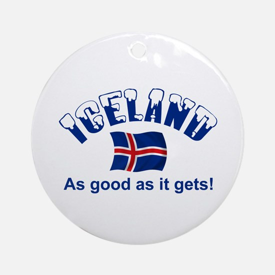 Iceland Flag Ornament (Round)