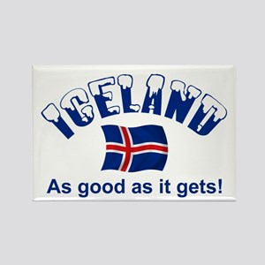 Iceland Flag Rectangle Magnet