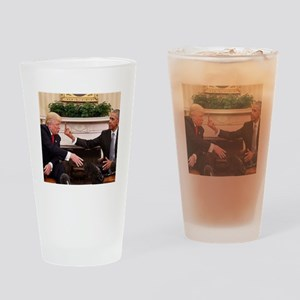 barack obama giving donald trump th Drinking Glass