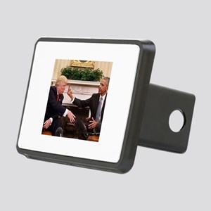 barack obama giving donald Rectangular Hitch Cover