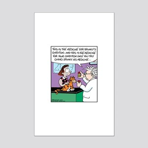 Cat Owner Medicine Mini Poster Print