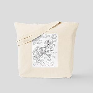 Prancing Paisley Horse Design Tote Bag