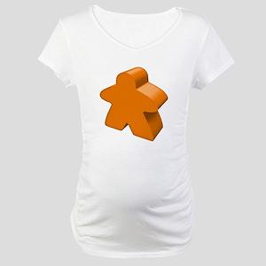 Orange Meeple Maternity T-Shirt