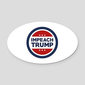 IMPEACH TRUMP Oval Car Magnet