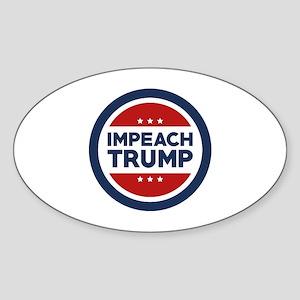 IMPEACH TRUMP Sticker (Oval 50 pk)