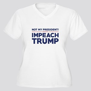 Impeach Trump Women's Plus Size V-Neck T-Shirt